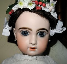 ANTIQUE NICE TALL BEBE JUMEAU RECLAME SIZE 10 OPEN MOUTH (24,02 INCH)