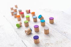 Magnet aus Eichenholz mit Filz von haftbar, magnete und mehr auf DaWanda.com