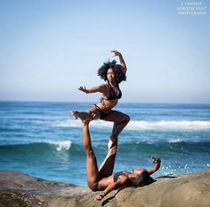 "Truly one of the MOST AMAZING YOGA demonstrations ever!!!  This make the old cliche'... ""a picture is worth a thousand words""... an understatement!  SPLENDID!!  AWESOMELY CAPTURED... MAGNIFICENCE OF STRENGTH in union of 2 bodies of YOGA!! ~ Blackbutterfly Expressions/ Blackbutterfly Wings of Health"
