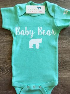 Baby Bear Baby, Boy, Girl, Unisex, Gender Neutral, Infant, Toddler, Newborn, Organic, Bodysuit, Outfit, One Piece, Onesie®, Onsie®, Tee, Layette, Onezie®