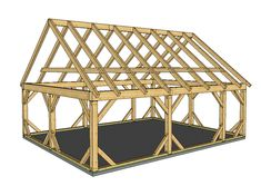 24×30 Post and Beam Pavilion Plan - Timber Frame HQ #timberframe -http://timberframehq.com/24x30-post-beam-pavilion-plan/?utm_content=buffer03eb7&utm_medium=social&utm_source=pinterest.com&utm_campaign=buffer