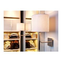 ALÄNG Wall lamp, nickel-plated, white - IKEA