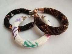 Bead crochet bracelet inspired by Louis Vuitton by MilenasBoutique, $41.00