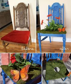 Crafts for adults on pinterest starfish wreath old for Fun chairs for adults