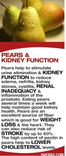 Pears and kidneys