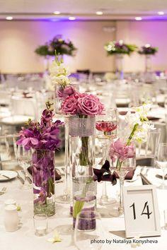 Reception indoors key west Pier House Ballroom floral by Karro Events & Floral https://www.pierhouse.com/weddings