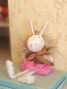 I just bought one of these....cutest ever!!!! Bratty Hazel the ballerina bunny by sugarcookiedolls on Etsy, $28.00