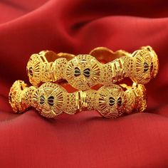 UNIQUE INDIAN SAREE JEWELRY GOLD PLATED ENAMEL BRACELET BANGLES 2pc | Jewelry & Watches, Fashion Jewelry, Bracelets | eBay!