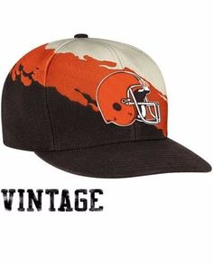 Mitchell and Ness Cleveland Browns Vintage Paintbrush Wool Snapback Hat One  Size  MitchellNess  ClevelandBrowns c513ff79c