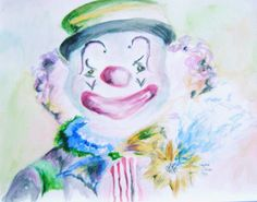Watercolor Clownin' Around- Laurielle Schwab