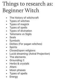 Wiccan Spells For Beginners