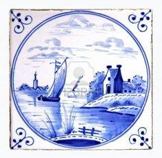 dutch delft blue tile