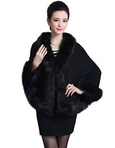 Women's Loose Floral Shawl Cloak Winter Cardigan Wrap Cape Faux Fur Coat -- Learn more by visiting the image link. (It is an affiliate link and I receive commission through sales) Fur Trimmed Cape, Fur Cape, Poncho Coat, Wrap Cardigan, Winter Cardigan, Winter Coats Women, Coats For Women, Clothes For Women, Poncho Mantel