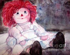 Raggedy Ann watercolor