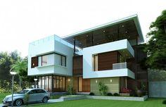 Mẫu thiết kế nhà phố 5,5m x 5 tầng