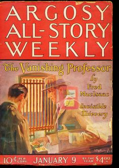 Argosy All-Story Weekly – 01/09/26 – Adventure House