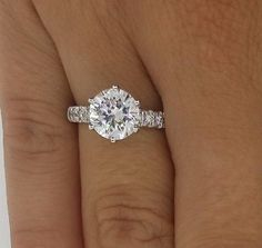 3.50 CT ROUND CUT D/SI1 DIAMOND SOLITAIRE ENGAGEMENT RING 14K WHITE GOLD  This is my dream. This one