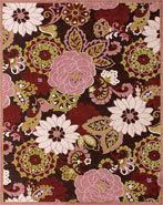 RugStudio presents RugStudio Rose Garden 44705 Dark Chocolate Plum Machine Woven