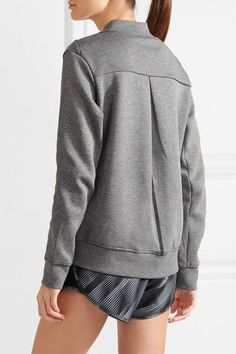 Nike - Tech Fleece Destroyer Perforated Cotton-blend Jersey Jacket - Gray -