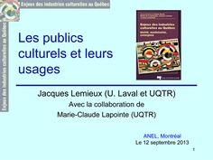 Cliquez ici pour télécharger ce document (PDF) Internet et les pratiques culturelles au Québec Effet d'ouverture ou de confinement? Marie-Claude Lapointe et Jacques Lemieux RÉSUMÉ L'utilisation d'…