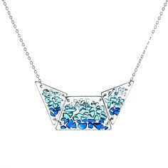 Shattered Glass Bib Necklace, $90, by Etta Kostick