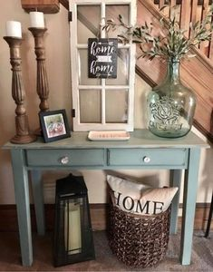 80 Inspiring Farmhouse Entryway Decor Ideas – Home Decor Rustic Entryway, Rustic Decor, Entryway Ideas, Farmhouse Entryway Table, Vintage Decor, Farm House Entry Table, Small Entryway Tables, Front Entryway Decor, Small Entrance