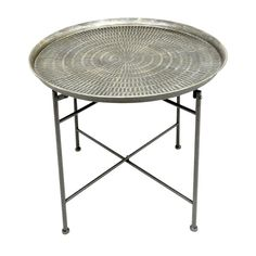 AT HOME - Round Metal End Table