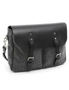 Best of British Pure Wool Herringbone Messenger Bag - Marks & Spencer