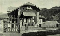 Iba Mendes: Fotos antigas do Rio de Janeiro - XXXVIII - RIO DE JANEIRO – Mansão situada à Rua Grajaú, no Andaraí, em 1923 - Brasil