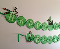 Peter Pan Happy Birthday Banner by PartyDecoByRebecca on Etsy