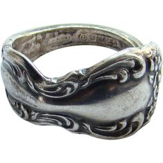 Vintage Rogers Spoon Ring 1881 Rogers Sterling Silver Size 6.5