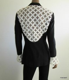 BILL TRAVILLA YT Vtg Ebony Lace Embellished Evening Jacket ~ 80's Collectible 10 #YTbyBillTravilla