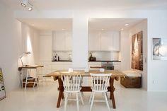 white dining room decor