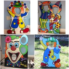 Clown Photo Booth Prop Cutout and Balloon Holder . Circus Stand-in Carnival Birthday Party . Clown Photo Booth by LittleGoobersParty Clown Party, Circus Theme Party, Carnival Birthday Parties, Circus Birthday, Birthday Party Games, Birthday Board, First Birthday Parties, Birthday Party Decorations, Party Themes