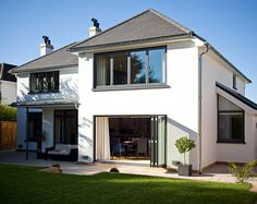 Case study - house complete refurbishment - A contemporary family home. House Extension Plans, House Extension Design, House Design, Rear Extension, Extension Ideas, 1930s House Exterior, Modern Farmhouse Exterior, Home Exterior Makeover, Exterior Remodel
