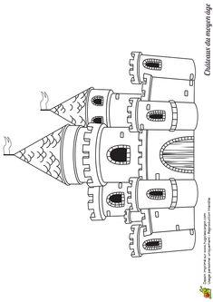 57 Meilleures Images Du Tableau Coloriages De Chateaux Et Chevaliers