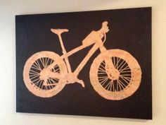 Fat Bike Art Look close-it Is made out of a map of Alaska! #fatbike #bicycle