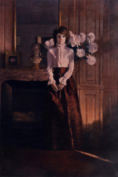 Portrait of Jaqueline Kennedy by Aaron A. Shikler (born Oil on canvas, 47 x 31 inches, executed between 1968 - 1995 Jacqueline Kennedy Onassis, Jackie Kennedy Style, Jaqueline Kennedy, First Lady Portraits, Famous Portraits, Os Kennedy, Die Kennedys, Familia Kennedy, American First Ladies