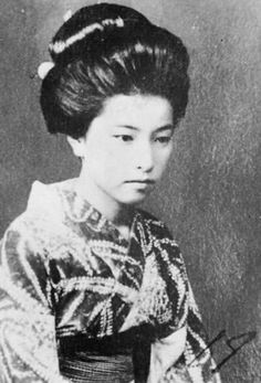 Yamazaki Tomie 山崎富栄 (1919-1948), lover of famous Japanese writer Dazai Osamu 太宰治 (1909-1948) and his partner in their double suicide at Tokyo, Japan, June 13th 1948