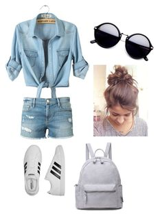 """Country Modle🔷"" by katelyn-sours-shrieve on Polyvore featuring Frame Denim, adidas and country"