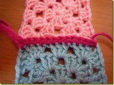 Aan elkaar naaien of haken van granny squares (nl heel duidelijke beschrijving met foto's)