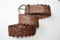 cinturon de cuero ancho talla 85