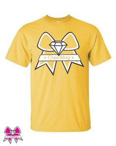 6e95ee2d Gold Team Color CheerBling Shirt Purple Gold, Jewelry Accessories, Yellow,  Cotton, Cheerleading