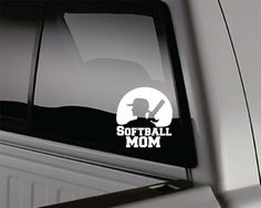 softball mom decal by WindowLickers on Etsy