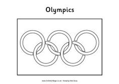 olympic rings coloring page - olympic rings colouring page winter olympics crafts for