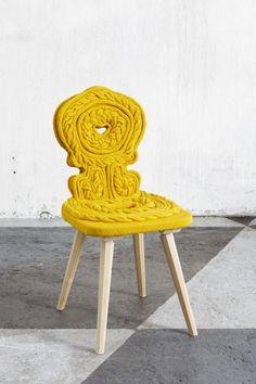 Claire Anne Ou0027Brien Knit Chair Transformation Réutilisation Ajuster