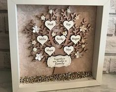 Personalised Home Decor & Gifts by HeavenlyBlueGifts Chic Nursery, Girl Nursery, Shabby Chic Shops, Wooden Roses, Family Tree Frame, Personalised Family Tree, Flower Letters, Wooden Letters, Beautiful Roses