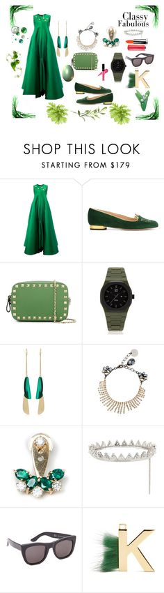 """Fab ????"" by jamuna-kaalla ❤ liked on Polyvore featuring Maison Rabih Kayrouz, Charlotte Olympia, Valentino, d1 Milano, Isabel Marant, Anton Heunis, Yvonne Léon, Eddie Borgo, RetroSuperFuture and Fendi"