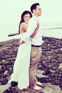 Mayim Bialik and Jim Parsons Prenup Photoshoot
