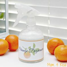 Homemade Orange Degreaser – Cleans Grease In Seconds via @Mom4Real